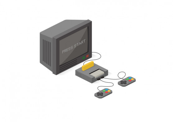 Video game. Vector flat illustration.